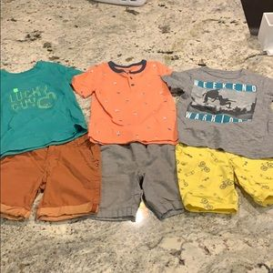Boys shorts and t-shirt lot Cat & Jack & Old Navy
